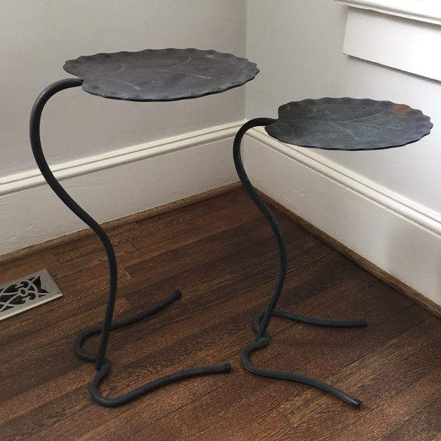 Salterini Lily Pad Nesting Tables - a Pair - Image 9 of 9