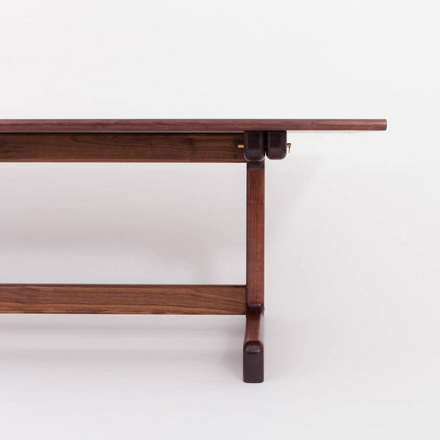 Not Yet Made - Made To Order Asa Pingree Physalia Dining Table with Low Profile Foot in American Walnut For Sale - Image 5 of 7