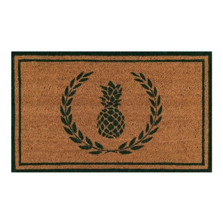 Erin Gates by Momeni Park Pineapple Green Hand Woven Natural Coir Doormat - 1′6″ × 2′6″