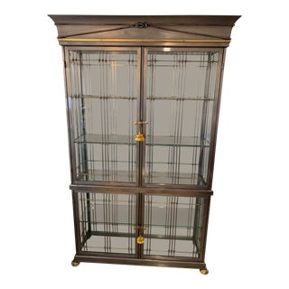 DI Edoardo Orlandi Glass Display Cabinet For Sale