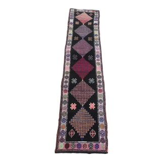 Hand Made Vintage Nomadic Boho Style Turkish Runner- 2′4″ × 10′11″ For Sale