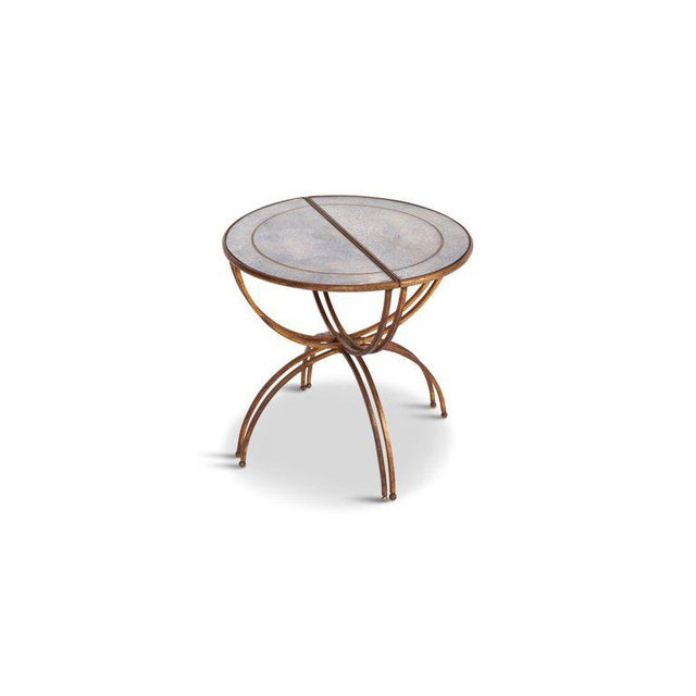 Brass Maison Baguès Demi-Lune Sidetables With Mirrored Glass Tops For Sale - Image 7 of 13