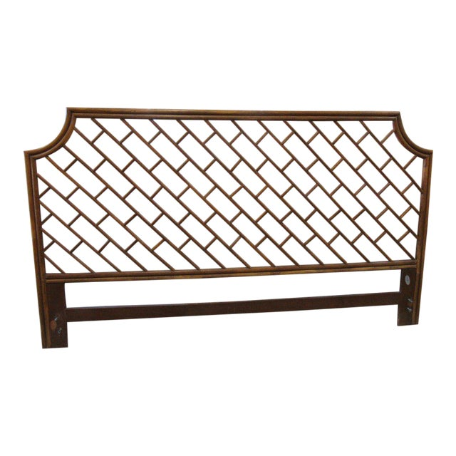 King Size Rattan Chippendale Headboard - Image 1 of 6