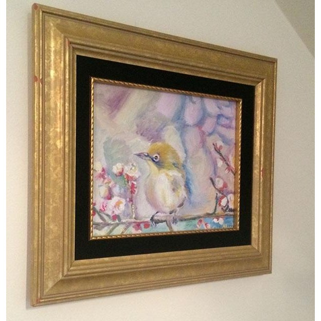 Nancy T. Van Ness Bird on Branch Oil Painting Print - Image 3 of 10