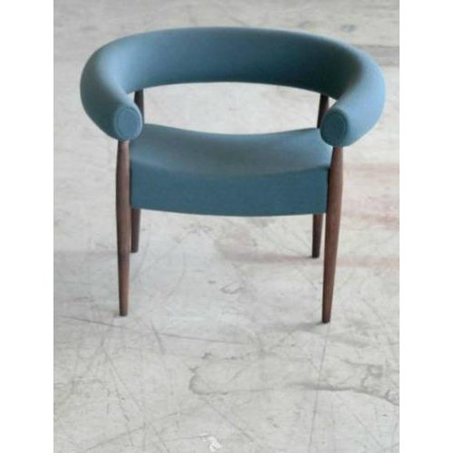 Danish Modern Nanna Ditzel for Getama Ring Chairs in Walnut and Wool - a Pair For Sale - Image 3 of 12