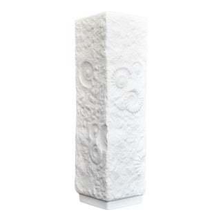 White Bisque Porcelain Mid Century Organic Modern Tall Vase by Ak Kaiser