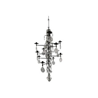 Mid-Century Modern Twelve-Arm Chandelier by Erik Höglund For Sale