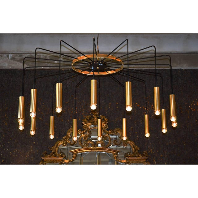 Not Yet Made - Made To Order Brass and Steel Modern Spider Chandelier For Sale - Image 5 of 11
