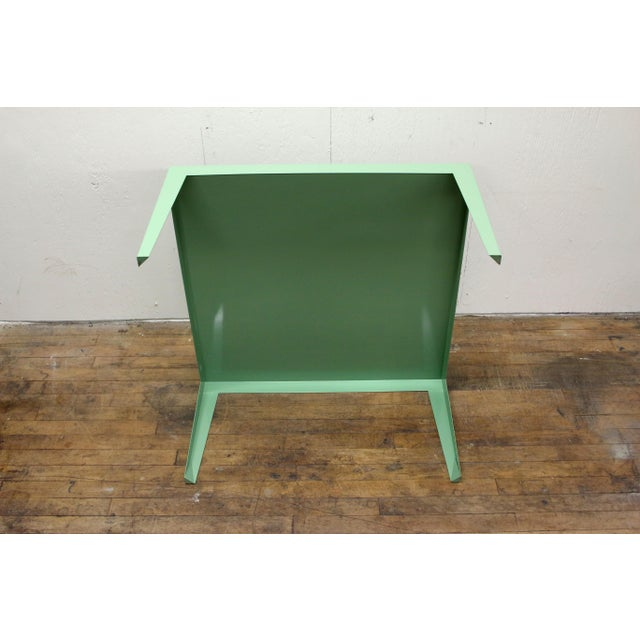 1950s Mint Green Mid-Century Powder Coated Steel Coffee Table For Sale In Philadelphia - Image 6 of 13
