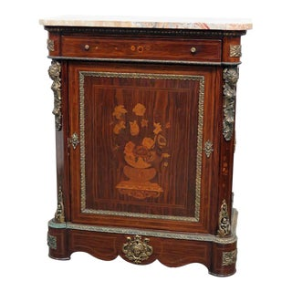 French Empire Style Marble Top Cabinet