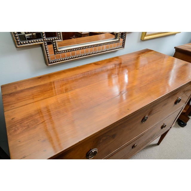 Cherry Wood Italian Cherrywood Two Drawer Commode For Sale - Image 7 of 9