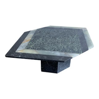Italian Mixed Stone Coffee Table For Sale