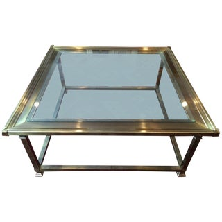 Vintage Mastercraft Brass/Glass Coffee Table