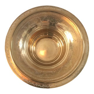 Brass Bowl - 1970's Vintage Brass Vessel Bowl For Sale