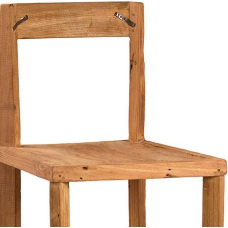 Reclaimed Teak Bar Stool - Image 2 of 2