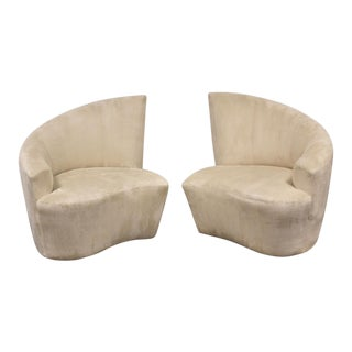 Vladimir Kagan Bilbao Lounge Chairs- a Pair For Sale