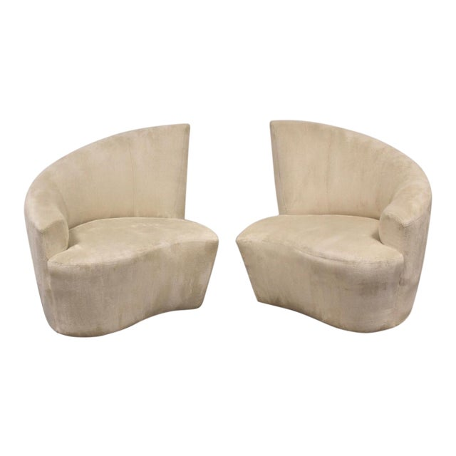 Vladimir Kagan Bilbao Lounge Chairs- a Pair For Sale