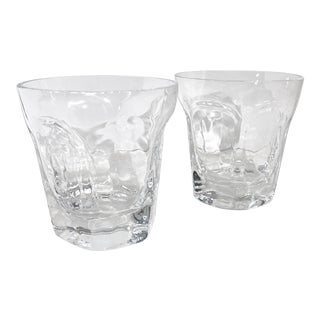 "Vintage Lenox ""Antique Clear"" Old Fashioned Crystal Usa Multisided Gift Discontinued - a Pair For Sale"