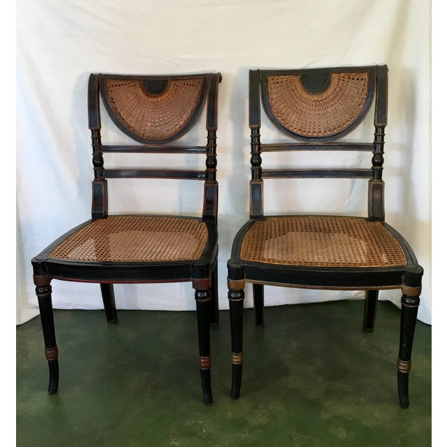 Mid 18th Century Set of 8 French Cane Dining Chairs Circa 1840 - Two Arm & Six Side Chairs For Sale - Image 5 of 13