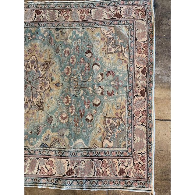 """1940s Mid 20th Century Antique Persian Rug - 6' 6"""" X 4' 9.5"""" For Sale - Image 5 of 6"""