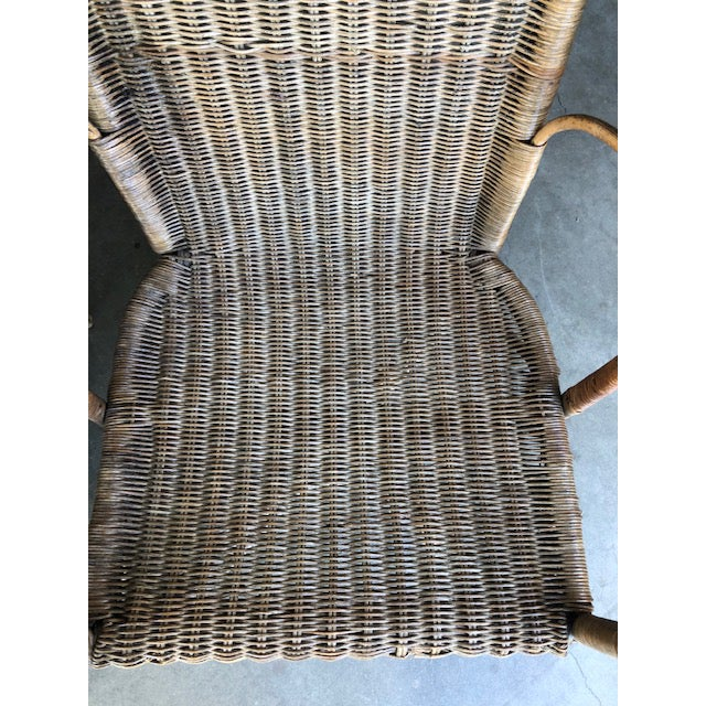 Early 21st Century Antique Wicker Chairs-A Pair For Sale - Image 5 of 11