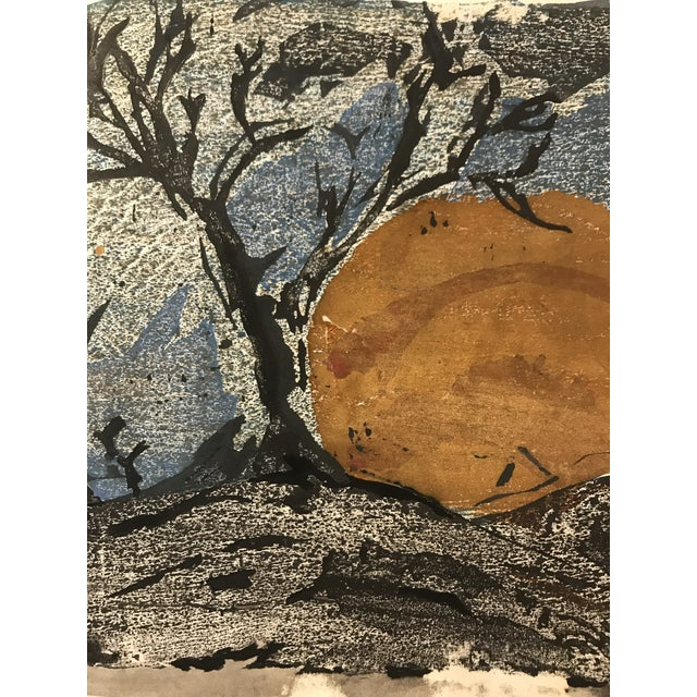 Mid 20th Century Mid-Century Japanese Abstract Painting For Sale - Image 5 of 6