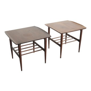 Mid-Century Modern Walnut Side Tables - a Pair For Sale