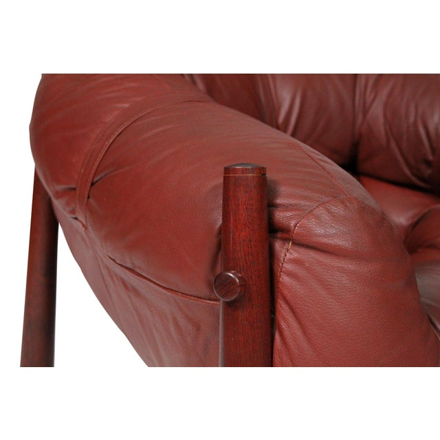 Brazilian Leather Lounge Chair by Percival Lafer For Sale - Image 11 of 13
