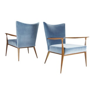 1950s Vintage Paul McCobb for Directional Lounge Chairs - A Pair For Sale