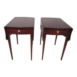 Mahogany Pembroke Tables - A Pair For Sale