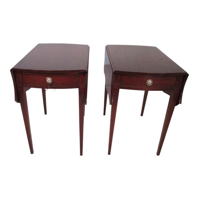 Mahogany Pembroke Tables - A Pair For Sale