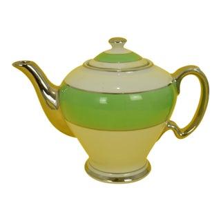 Early 20th Century Antique McCormick & Co 'Banquet Teas' Balto English Teapot For Sale