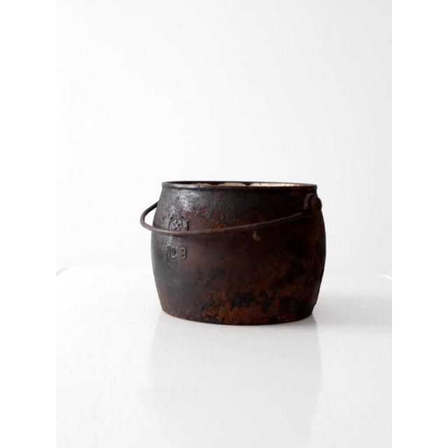 Antique Cast Iron Pot For Sale - Image 6 of 9