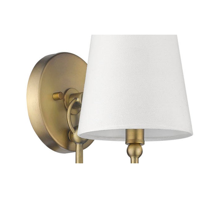 Signature 1 Light Sconce, Antique Brass For Sale - Image 4 of 6