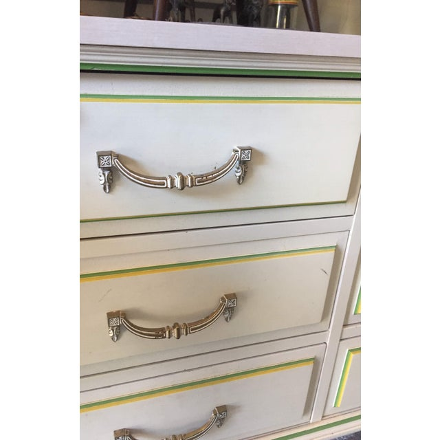 1950s Morris of California 9 Drawer Dresser Cabinet and Mirror For Sale - Image 5 of 7