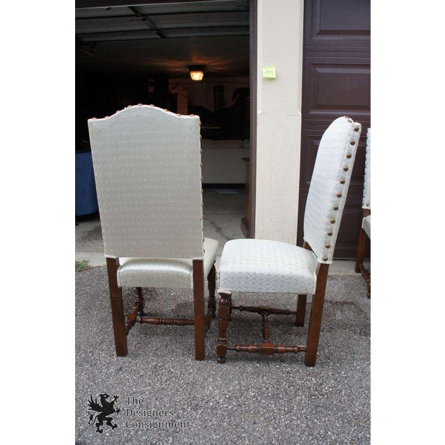 Early 20th Century Vintage Jacobean Spanish Style Dining Chairs- Set of 6 For Sale - Image 12 of 13