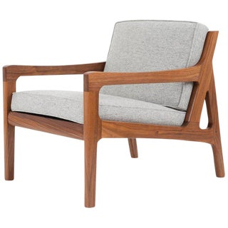 Asa Pingree Pilar Lounge Chair in American Walnut For Sale
