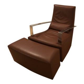 Ligne Roset Neo Rocker Chair & Ottoman For Sale