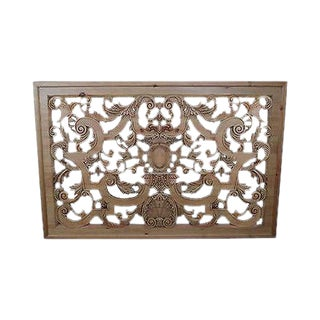 Outstanding Carved Wood Hanging Rococo Style Wall Plaque (D) For Sale