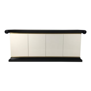 Vintage Italian Lacquered Credenza, 1980 For Sale
