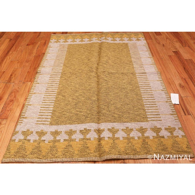 Vintage Swedish Double Sided Rug, Country of Origin: Sweden / Scandinavia, Circa: Mid-20th Century – Here is a lovely...