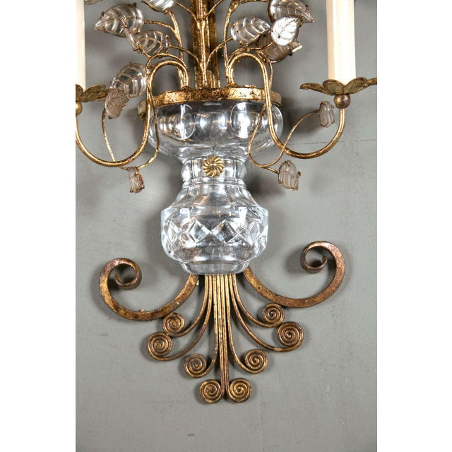 1930s French Gilt Metal Sconces - a Pair For Sale - Image 4 of 8