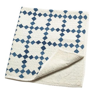 19th Century American Crib Quilt For Sale