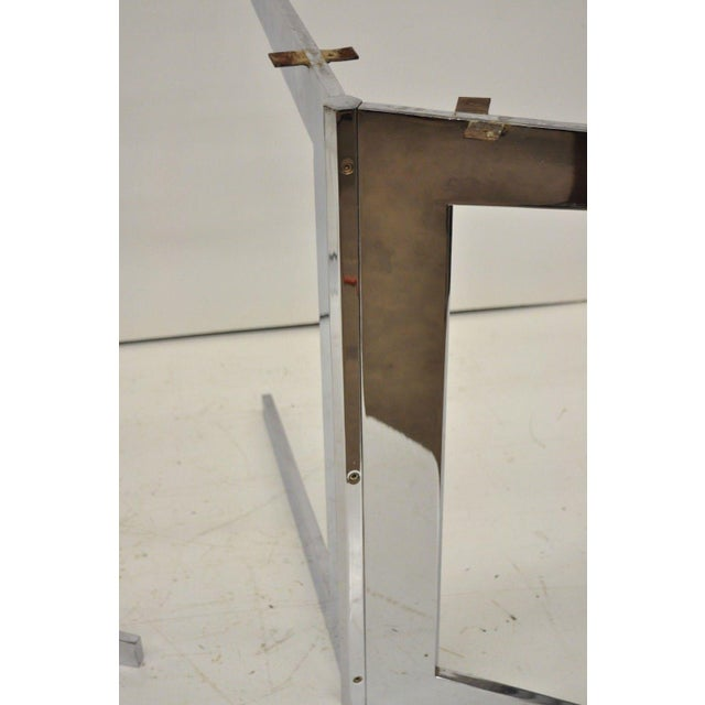 Mid-Century Modern Chrome Steel Double Star Pedestal Dining Table Bases - a Pair For Sale In Philadelphia - Image 6 of 13