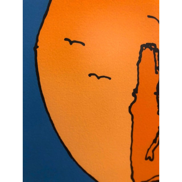 """1970s Peter Max """"Swamiji"""" Original Serigraph Signed Limited Edition 1971 For Sale - Image 5 of 10"""