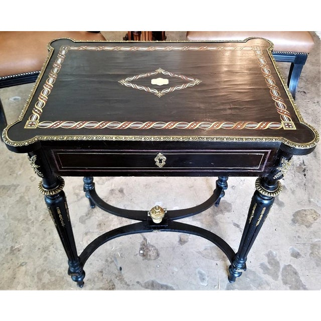 19th Century French Napoleon III Ladies Make-Up Table or Vanity For Sale - Image 13 of 13