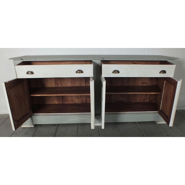 1970's French Country Painted Buffet - Image 5 of 10