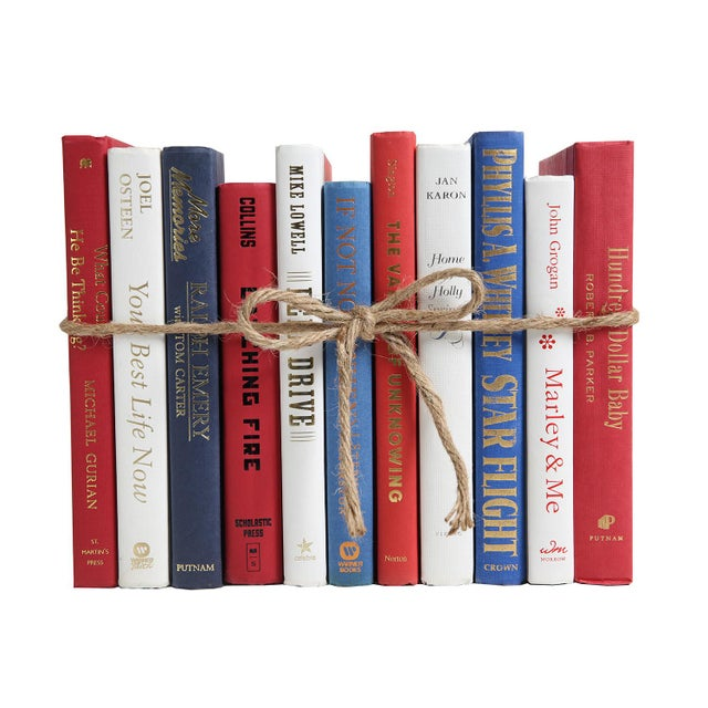 Americana Modern Americana ColorPak - Red, White & Blue Decorative Books For Sale - Image 3 of 3