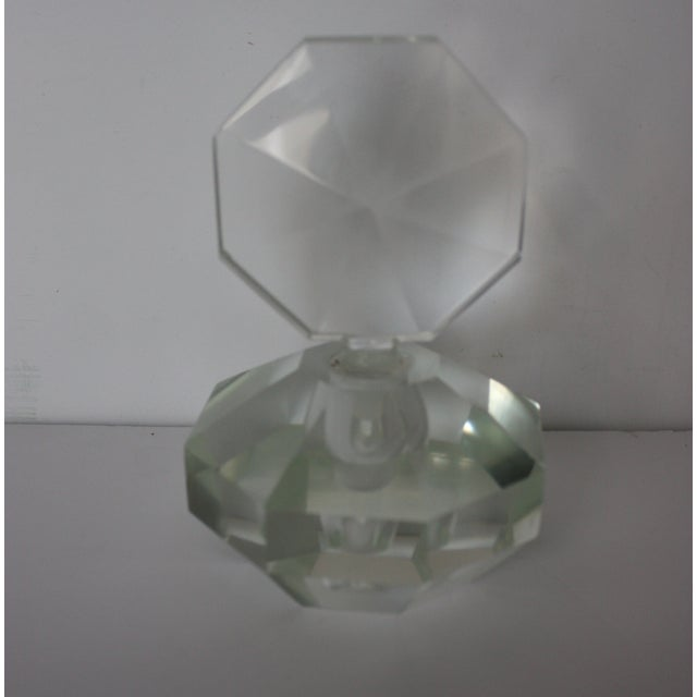 Art Deco Crystal Perfume Bottle - Image 2 of 4