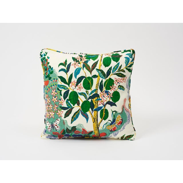 Schumacher Double-Sided Pillow in Citrus Garden Primary Linen Print For Sale In New York - Image 6 of 8